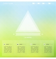 bright interface for web and mobile site vector image