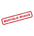 Buffalo Wings Text Rubber Stamp vector image vector image