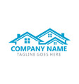 building real estate logo vector image vector image