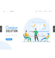 business meeting teamwork concept landing page vector image vector image