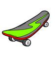 cartoon skateboard vector image