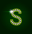 casino and resort letter s luxury letter with vector image