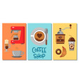 coffee design templates banners vector image