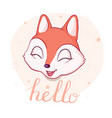 cute cartoon fox in modern simple flat style vector image vector image
