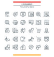 e-commerce line icons vector image vector image