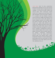 ecology concept - save earth vector image vector image
