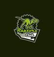 emblem an aggressive dinosaur sharp teeth vector image vector image