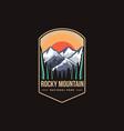 emblem patch logo rocky mountain national park vector image vector image