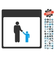 Father Calendar Page Icon With Bonus vector image vector image