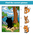 find correct picture game for children quokka vector image vector image