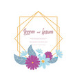 flowers wedding flower elegant romantic vector image