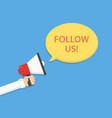 follow us concept vector image