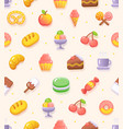 food sweets coffee shop bakery icon fluent design vector image