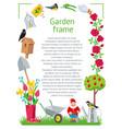 frame rectangle garden vector image vector image