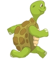 Funny Turtle Running vector image vector image
