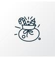 gift sack icon line symbol premium quality vector image vector image