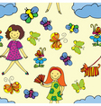 girls day pattern vector image vector image