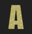 gold glitter or sequins letter - a vector image