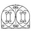 grill panel is an italian renaissance design vector image vector image
