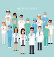 hospital medical team medical staff vector image