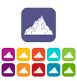 iceberg icons set flat vector image vector image