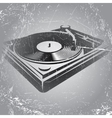 in retro style with DJ console on vector image vector image