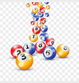 keno lottery balls numbers bingo lotto vector image vector image