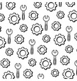 line wrench equipment and industry gear background vector image vector image
