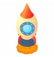 Little rocket icon cartoon style vector image vector image