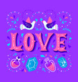 love card with magical decorative elements and vector image