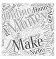Making Money From Home Where Do You Start Word vector image vector image