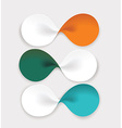 Modern design from spiral banners Can be used for vector image vector image