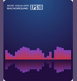 music abstract background blueequalizer vector image vector image