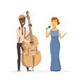 musicians - cartoon people characters vector image