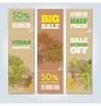 Organic shop banners vector image vector image