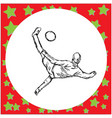 overhead kick soccer player vector image vector image