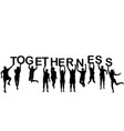 people silhouettes holding letter with word vector image vector image