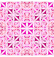pink repeating kaleidoscope pattern background vector image vector image