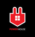 power house logo vector image vector image