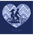 purple drops chevron couple on tandem vector image vector image