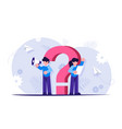 question mark faq concept support staff will vector image vector image