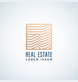 real estate abstract sign symbol or logo vector image vector image