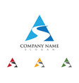s letter logo template icon vector image vector image