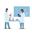 science researching lab vector image vector image