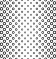 Seamless black and white ring pattern vector image vector image