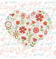 Seamless pattern with floral heart vector image vector image