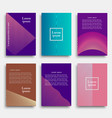 set creative cover design with geometric line vector image vector image