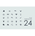 Set of Horoscope icons vector image