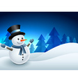 snowman winter background vector image