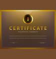 stock certificate template vector image